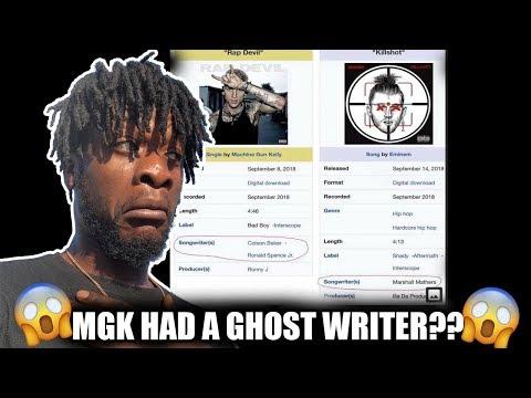Machine Gun Kelly Had A Ghost Writer On Rap Devil??