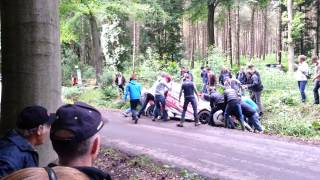 Geko Ypres Rally 2013 DS3 After Crash By RallyFeeling.hu