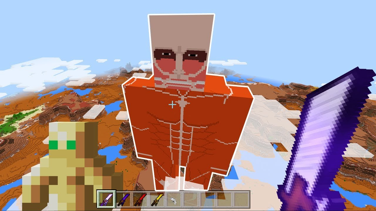 Images Of Minecraft Attack On Titan Colossal Titan