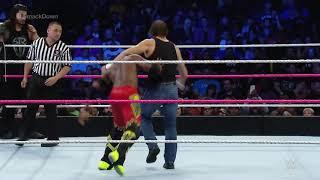 Roman Riens dean Ambrose vs Kofikengston and Bugge samkdown live 2016match