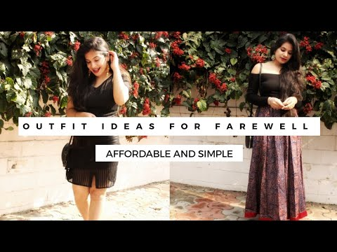 Last minute FAREWELL outfit ideas - School/College || Simple and affordable || Mamta Thakur 1