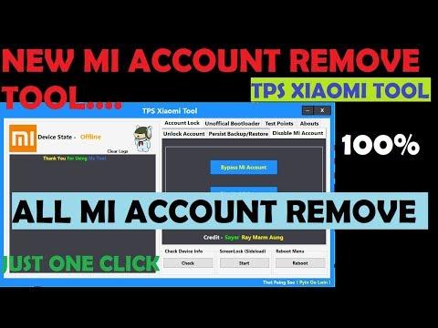 New Mi Account Remove Tool   Tps Xiaomi Tool   All Mi Account remove