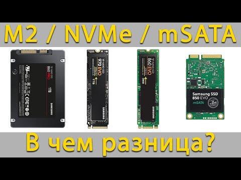 Типы накопителей M2 SSD, NVMe, HDD или MSATA - Как выбрать и в чем разница