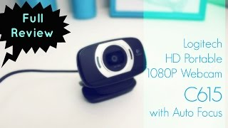 Logitech HD Portable Webcam C615 with Auto Focus ❤ Full Review