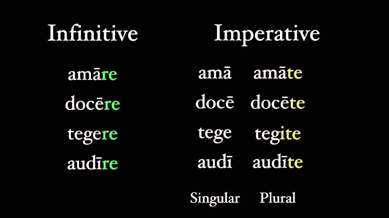 Imperatives Youtube
