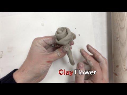 easy art for kids clay flower youtube