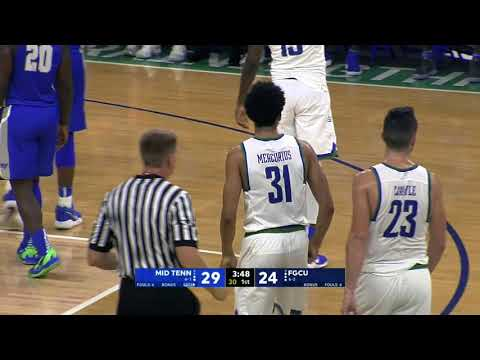 @FGCU_MBB falls to Middle Tennessee 76-81 despite hot start