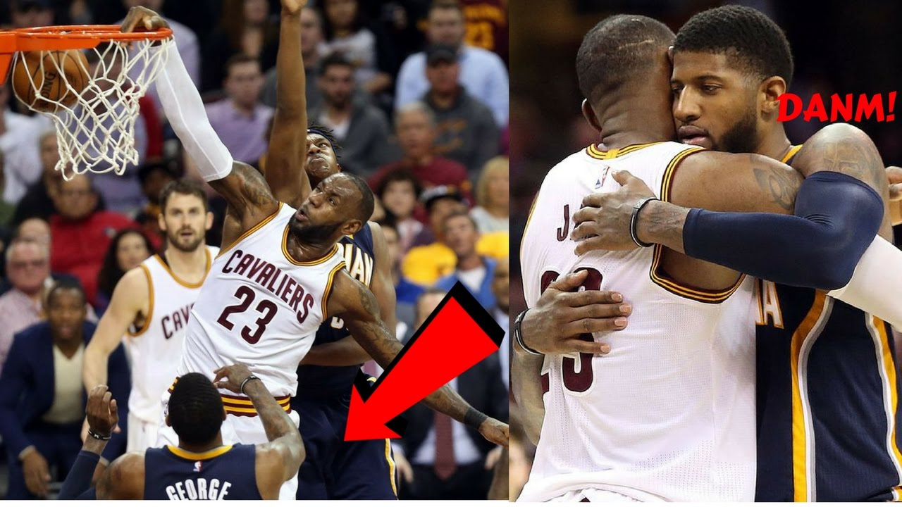 6252e9d23cf LeBron James and Paul George DUNKING ON EACH OTHER! Which poster was better