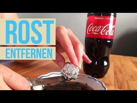 Rost entfernen mit Cola und Alufolie I Metall entrosten I ...