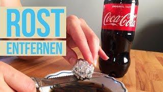 Rost entfernen mit Cola und Alufolie I Metall entrosten I Rostschutz