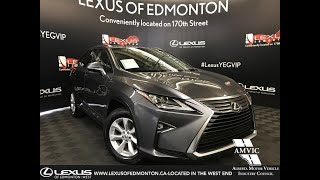 Lexus Certified Pre Owned Grey 2016 RX 350 Standard Package Review - Hinton, AB