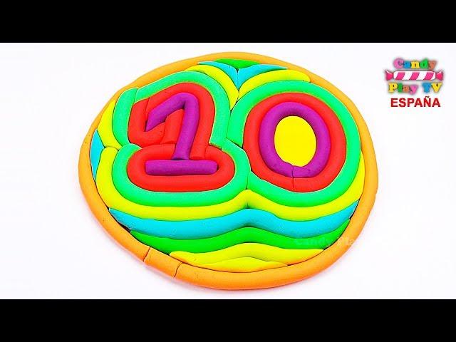 Aprender colores en español para niños | Como hacer los número diez en plastilina Play Doh