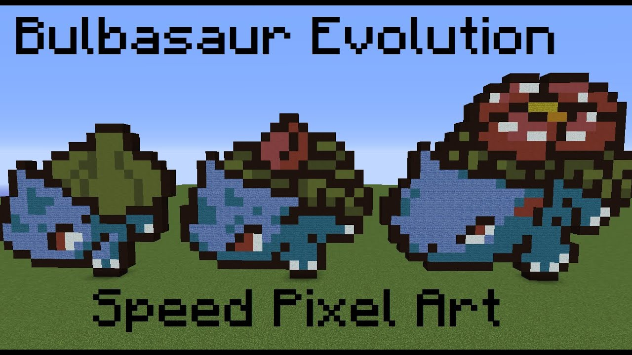 how to make a bulbasaur in minecraft