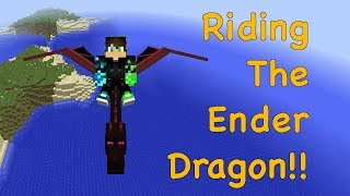 Riding The Ender Dragon (And Breathing Fire!!) (Animal Bikes Mod) || Mods, Maps, And More #2