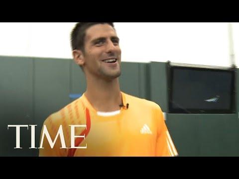Novak Djokovic Impersonates John McEnroe