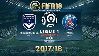 Fifa 18 bordeaux vs psg | ligue 1 conforama 2017/18 | ps4 full match