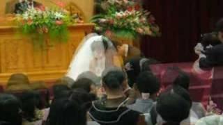 2006.6.3南投教會綉惠姊與彰化永福教會洪長老結婚.