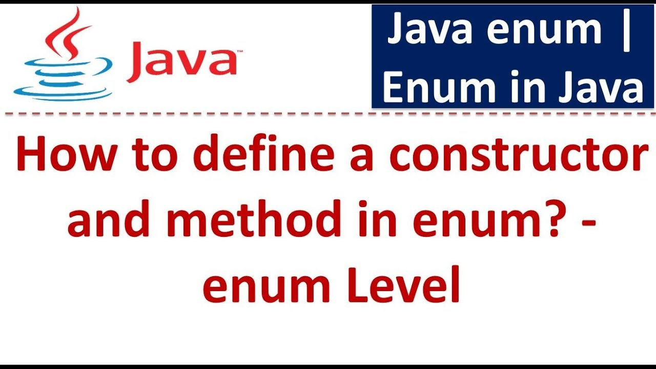 Java tutorial enum in javahow to define a constructor and method java tutorial enum in javahow to define a constructor and method in enum level baditri Image collections