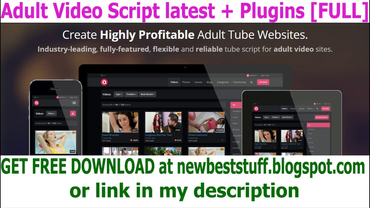 Get Free Adult Video Script V4 Plugins Full All Files