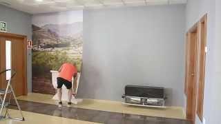 Gambar cover Cómo pegar un fotomural en la pared