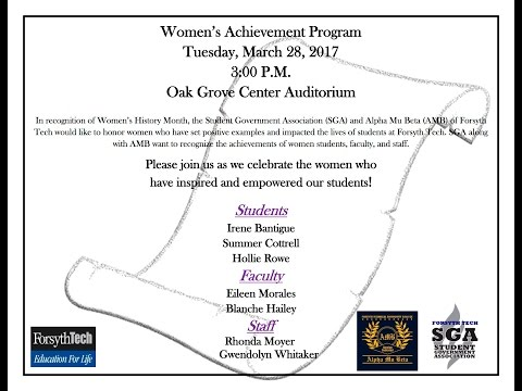 2017 Women's Achievement Program