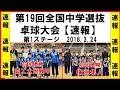 卓球 第19回全国中学選抜卓球大会【第1ステージ結果速報!】
