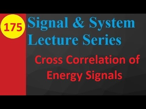 Cross Correlation of Energy Signals (Basics, Definition, Function and Properties)