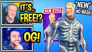 Streamers React To *NEW* UNMASKED Skull Trooper Skin! (Fortnite Moments)