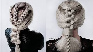 Chain braid! Beautiful and easy way to do chain braids! Chain hairstyles!