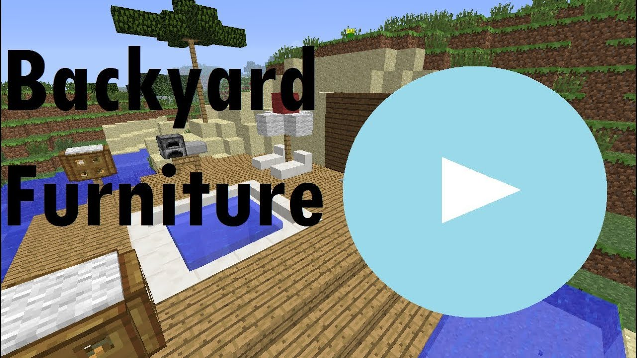 Minecraft Showcase Backyard Furniture And Ideas Youtube