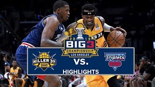 BIG3 Championship | Killer 3s vs. Triplets | Highlights