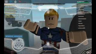 Captain America civil war Roblox (Iron Man vs Captain America)