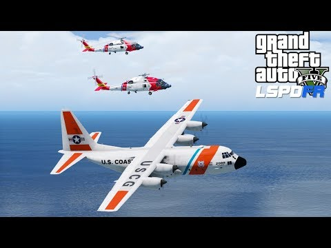 GTA 5 Coastal Callouts | C-130 & Jayhawks Formation Flying | Bringing Rescue Equipment To Los Santos