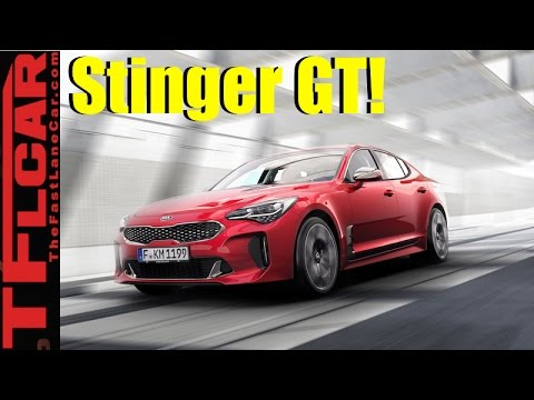 2018 Kia Stinger GT: Surprise, Kia unveils a Sexy & Fast RWD Sports Sedan
