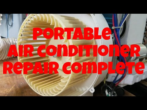 Garage workshop portable air conditioner repair completed!
