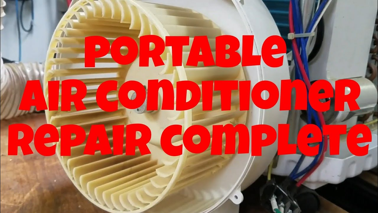 Garage Workshop Portable Air Conditioner Repair Completed