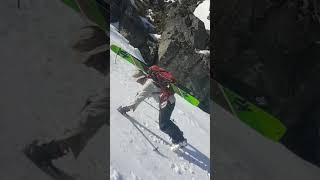 Waterfall Chute Steep Snow Climbing