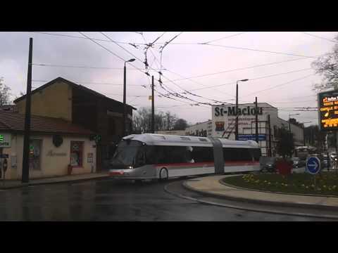 Trolleybus Civis (ex-Bologne) en test sur le réseau TCL