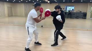 190421 BTS Golden Maknae Jungkook showing his Boxing skills