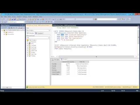 Microsoft SQL Server 2014 - Designing BI Solutions: Performing a Simple Case Statement
