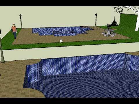 plano piscina en 3d proyecto prado tolima