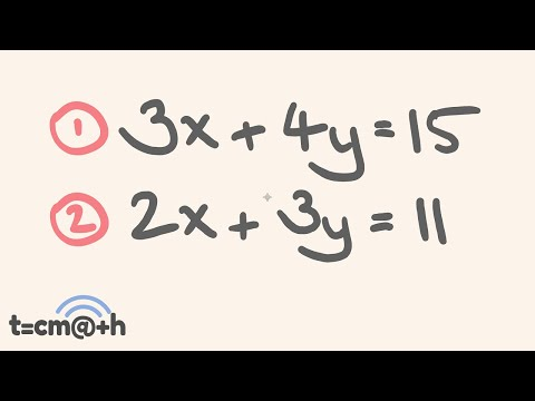 Simultaneous Equations - the Elimination Method - How to solve - Math Lesson