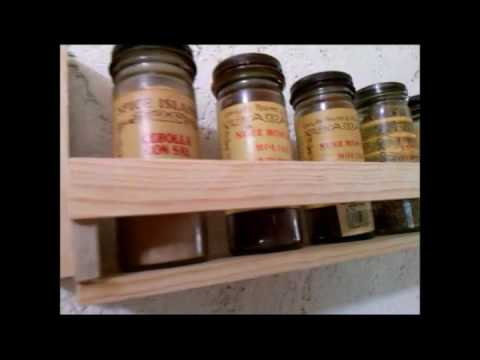 Especiero para cocina de mini repisa youtube for Repisas rusticas para cocina