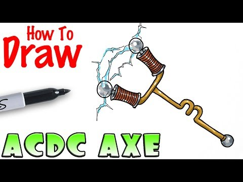 How to Draw ACDC Axe | Fortnite