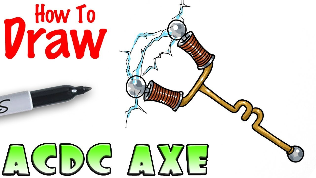 how to draw acdc axe fortnite youtube - how to draw fortnite llama pickaxe
