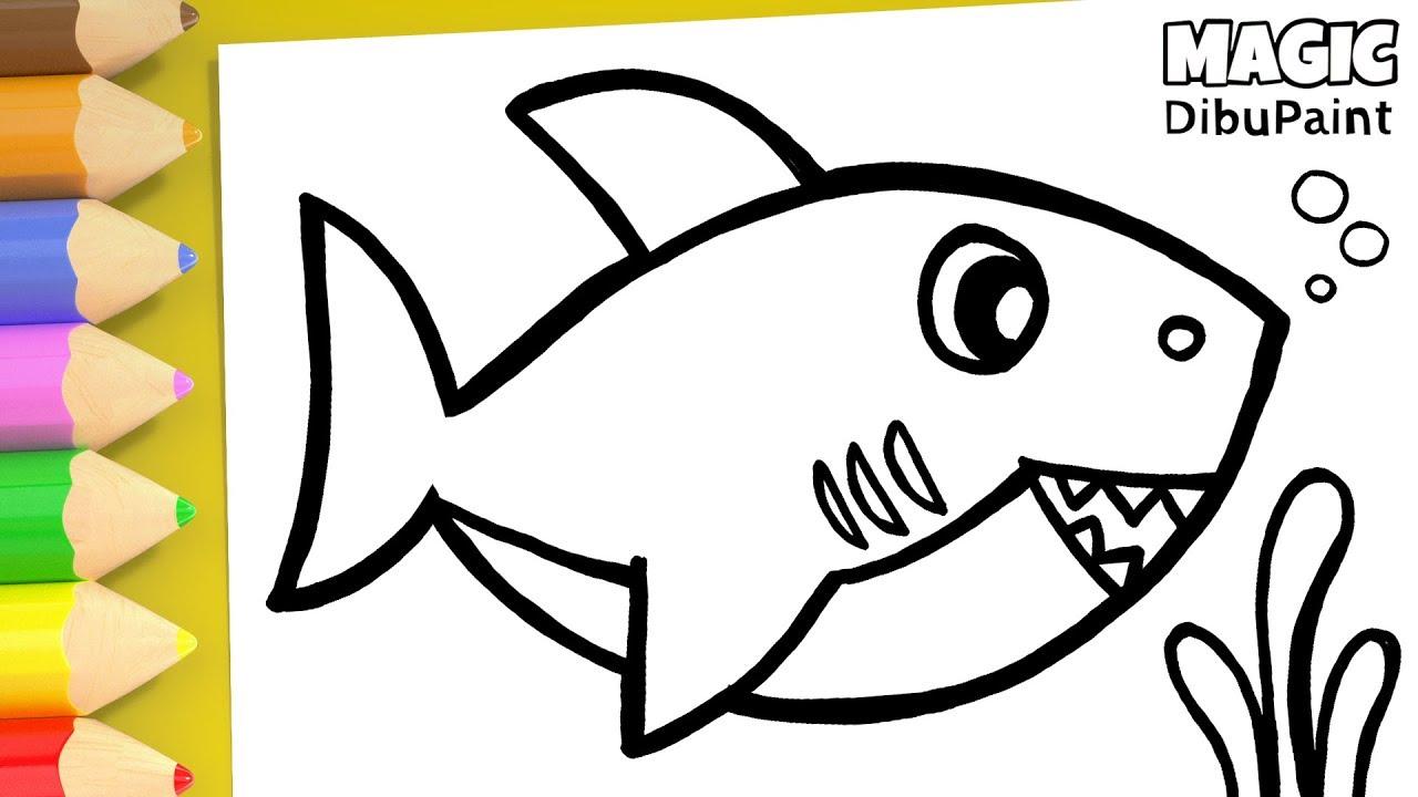 Como Dibujar Baby Shark Canciones Infantiles Dibujos Para