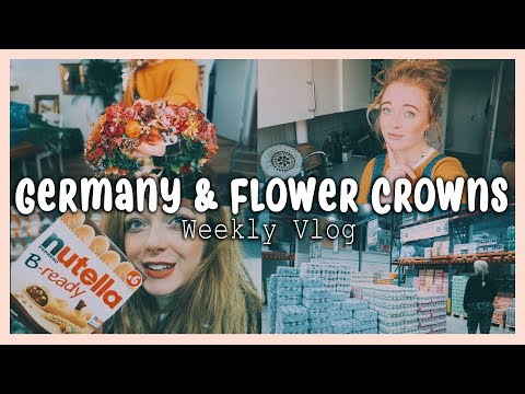 border shopping in Germany, flower crowns & a flu