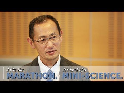 """A marathon is kind of a mini-science."""