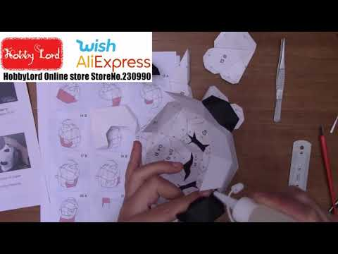 How to build up Cute Panda Paper Sculpture