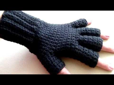 Схема вязание перчаток крючком